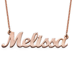 18k Rose Gold Plated Script Name Necklace product photo