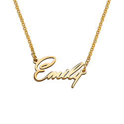 Tiny Name Necklace with 18k Gold Plating - Extra Strength product photo
