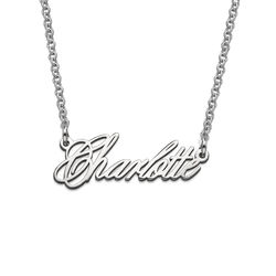 Tiny Name Necklace - Extra Strength Silver product photo