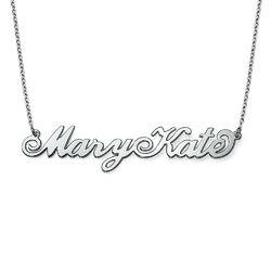 Two Capital Letters Silver Carrie Style Name Necklace product photo