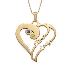 Two Hearts Forever One Necklace in 14k Gold product photo