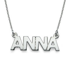 All Capitals Silver Name Necklace product photo