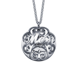 Mom Necklace with Back Engraving product photo