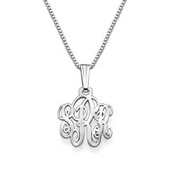 XS Silver Monogram Necklace product photo