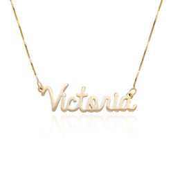 Personalized Cursive Name Necklace in 14K Gold product photo