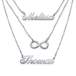 Layered Name Necklace in Sterling Silver product photo