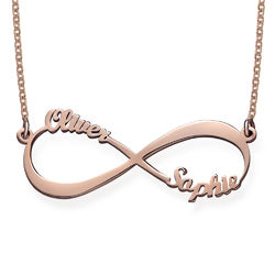 Infinity Name Necklace in Rose Gold Plating product photo