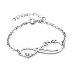 Infinity 2 Names Bracelet - 14K White Gold product photo