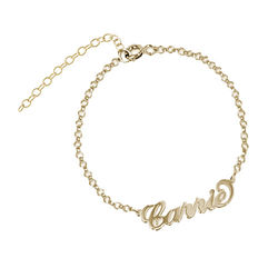 18k Gold-Plated Carrie Personalized Bracelet product photo