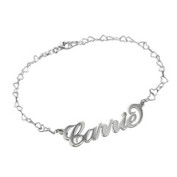 Carrie Style Personalized Bracelet - Heart Chain product photo