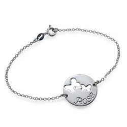 Cut Out Butterfly Bracelet in Silver product photo