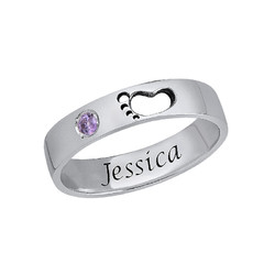Baby Feet Ring with Inner Engraving product photo