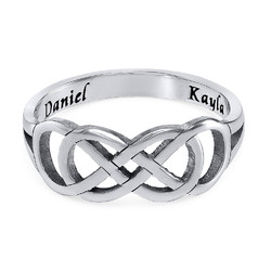 Double Infinity Ring with Inner Engraving product photo