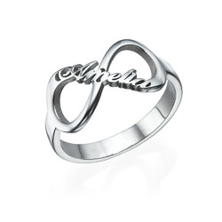 Infinity Name Ring in Silver product photo