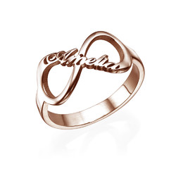 Infinity Name Ring with Rose Gold Plating product photo
