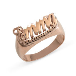 Rose Gold Plated Sterling Silver Name Ring product photo