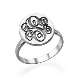 Monogram Signet Ring in Silver product photo