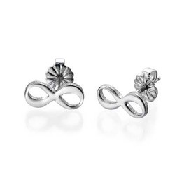 Infinity Stud Earrings with Initial product photo