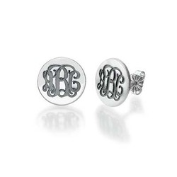 Monogram Stud Earrings product photo