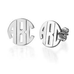 Block Monogram Stud Earrings product photo