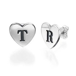 Heart Initial Earrings product photo