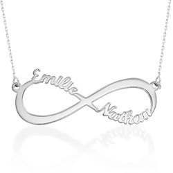 Infinity Name Necklace in 10K White Gold product photo