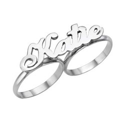 Two Finger Name Ring product photo