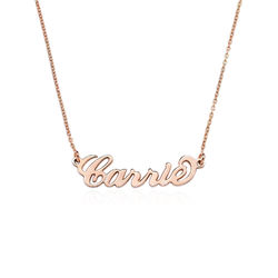 18K Rose Gold Plated Silver Name Necklace product photo