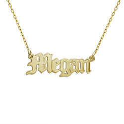 10k Gold Old English Name Necklace product photo