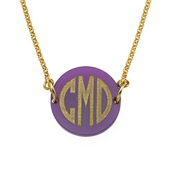 Acrylic Block Monogram Necklace product photo