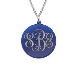 Monogrammed Custom Acrylic Necklace product photo