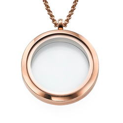 Round Locket in Rose Gold Plating product photo