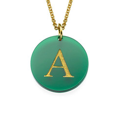 Acrylic Initial Disc Necklace product photo