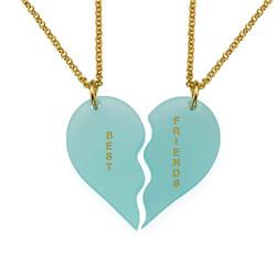 Acrylic Broken Heart Necklaces product photo