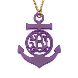 Acrylic Anchor Monogram Necklace product photo