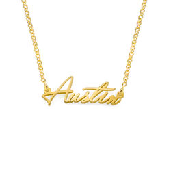 Tiny Name Necklace in 18k Gold Vermeil - Extra Strength product photo