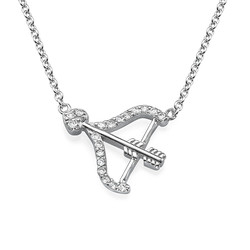 Bow and Arrow Necklace with Cubic Zirconia product photo