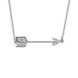 Cubic Zirconia Arrow Necklace product photo