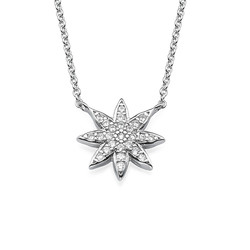 Star Shaped Necklace with Cubic Zirconia product photo