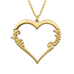 18k Gold Plated Heart Necklace product photo