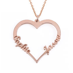 18k Rose Gold Plated Heart Necklace product photo