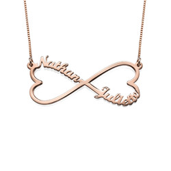 Heart Infinity Name Necklace - Rose Gold Plated product photo