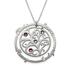 Birthstone Family Tree Necklace product photo