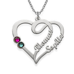Couples Birthstone Necklace product photo