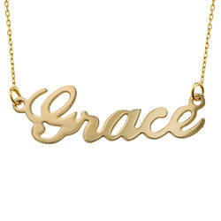 10k Gold Classic Name Necklace product photo