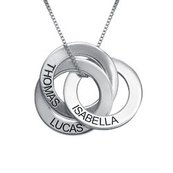 940 Premium Silver Russian Ring Necklace with Engraving product photo