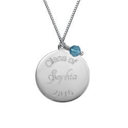 Personalized Graduation Necklace with Birthstone product photo