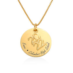 Engraved Graduation Necklace in Gold Plating product photo