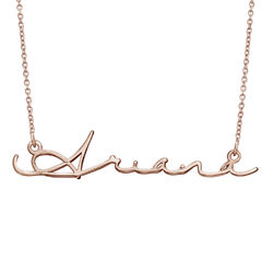 Signature Style Name Necklace in Rose Gold Plating product photo