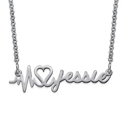 Signature Custom Heartbeat Necklace product photo